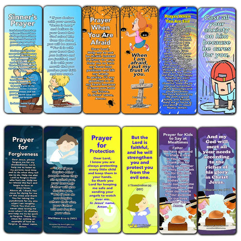 Children's Prayers Bookmarks