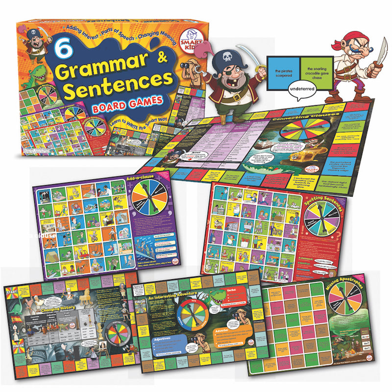6 Grammar and Sentence Board Games