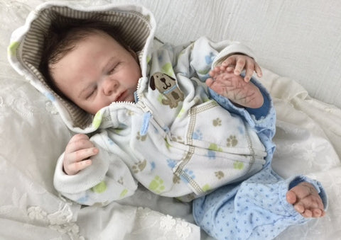 Reborn Believable Babies - Sleeping Baby Boy Liam - Doll Therapy for People with Alzheimer's