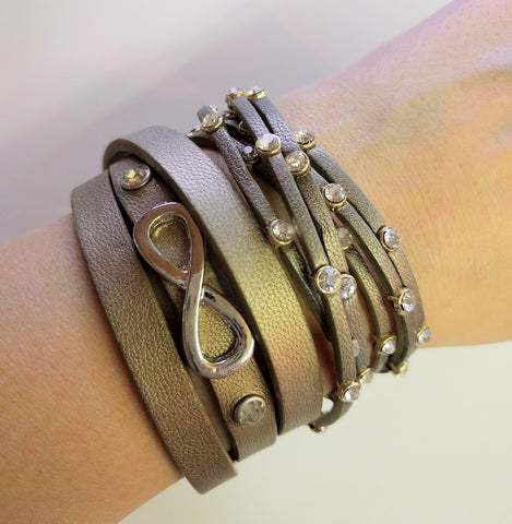 "Miracles by Annelien Coorevits ""Temptation collection"" - Armband Infinity Dark Bronze - Luxedy - 2"