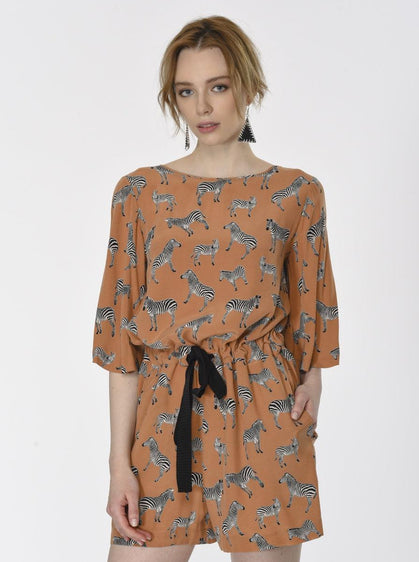 ANIMAL PATTERN JUMPSUIT