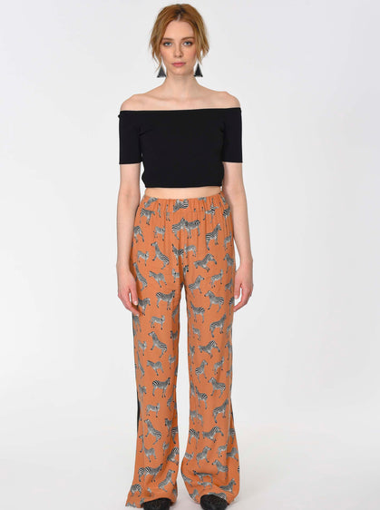 ANIMAL PRINTED LONG LEG PANTS