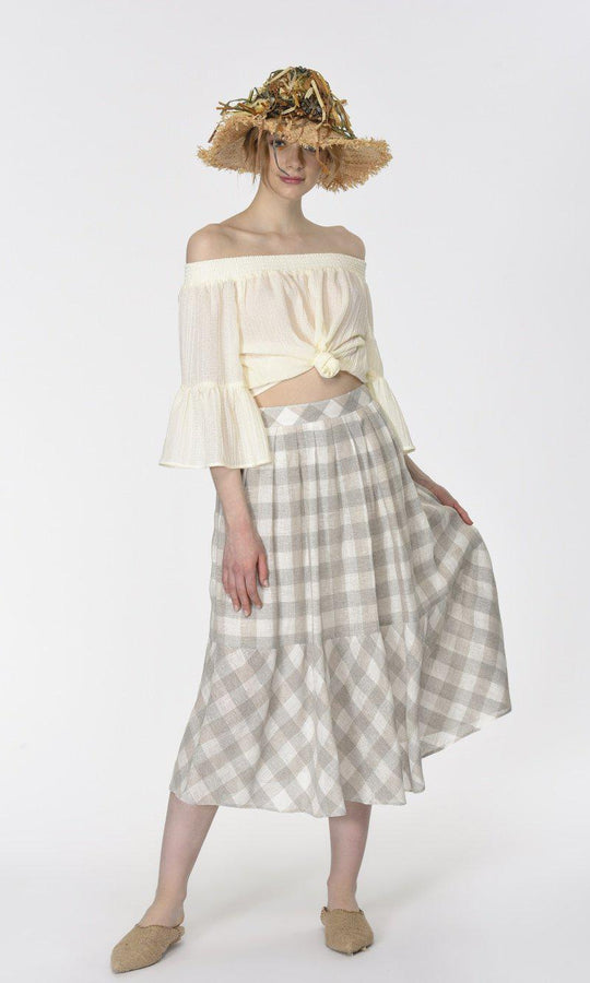 HIP PLEATED MIDI SKIRT