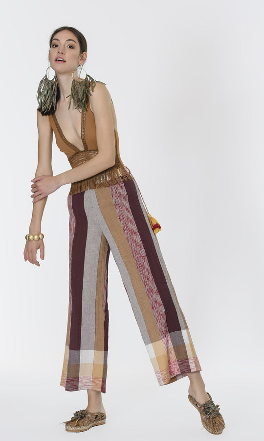 ELASTIC WAIST COLORFUL PANTS