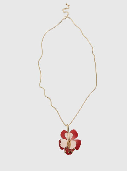 Accessories - FLOWER DESIGN NECKLACE