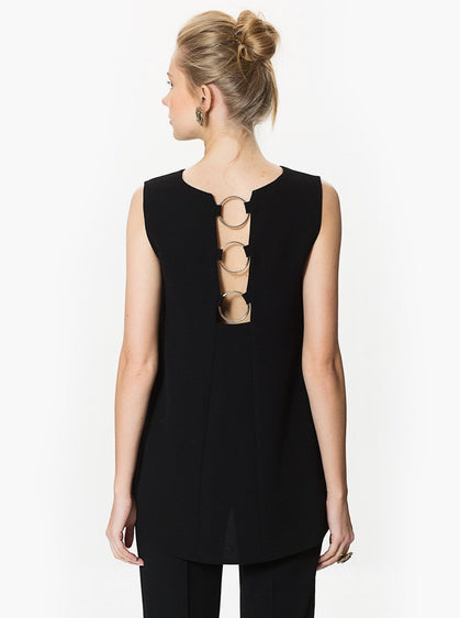 Apparel - BACK RING DETAILED TOP
