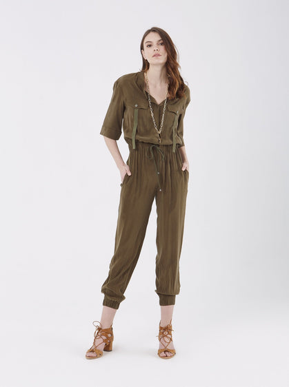 Apparel - OLIVE JUMPSUIT