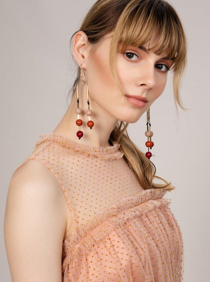 BEADED DROP EARRING