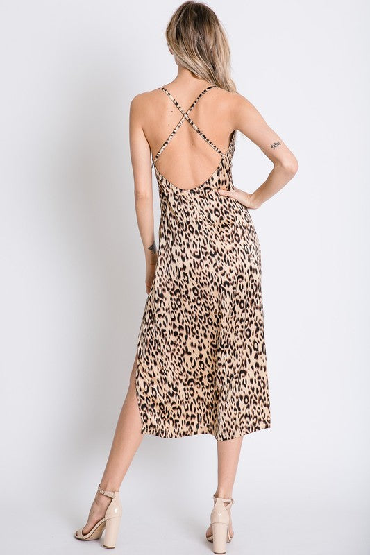 The Scarlett Leopard Midi Dress