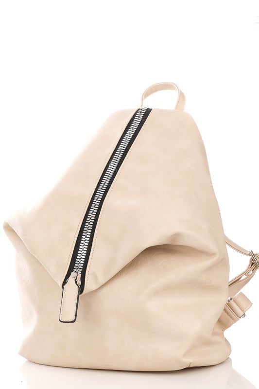 Vertical Zipper Stylish Backpack