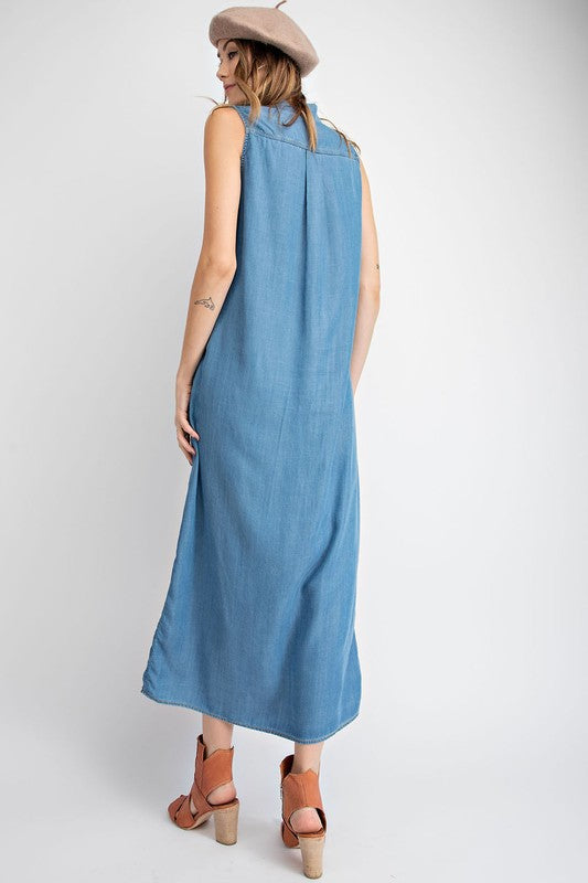 The Emma Denim Dress/Vest - Beau&Arrow