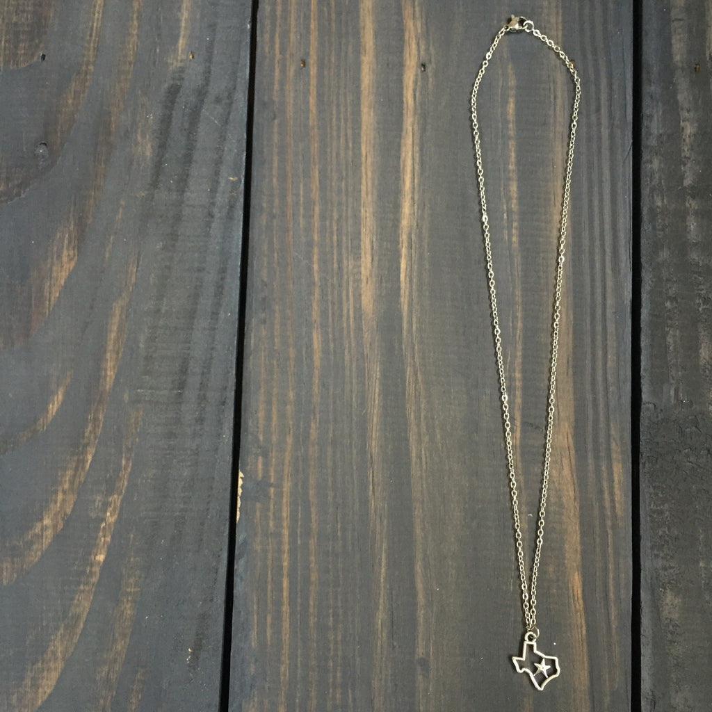 Dainty Silver Texas Necklace - Beau&Arrow