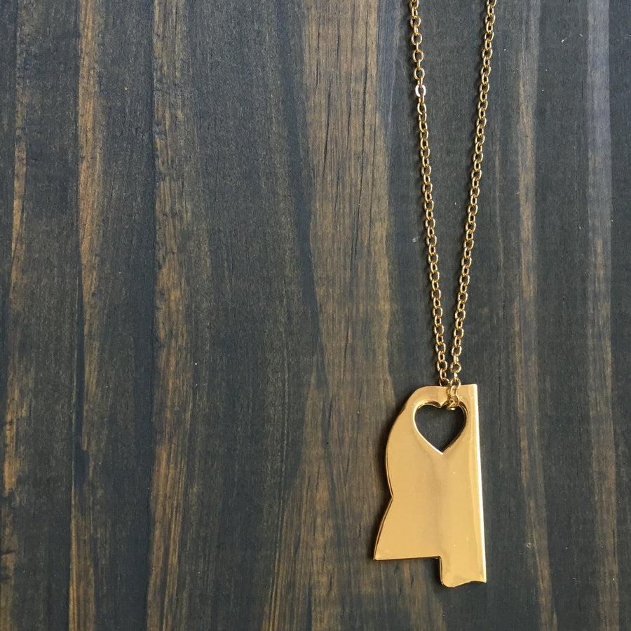 I Heart Mississippi Necklace - Beau&Arrow