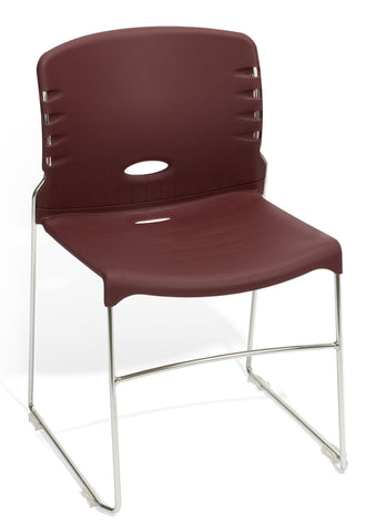 CONTRACT PLASTIC STACK CHAIR - WINE
