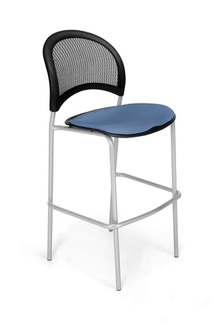 Moon Cafe Hgt Chair-Slvrbse-Cornflower Blue