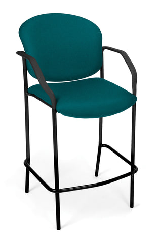 DELUXE CAFE CHAIR WITH ARMS - TEAL