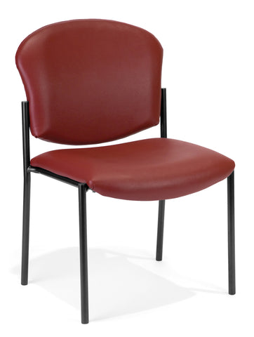 ARMLESS STACK CHAIR VINYL - 603-Wine