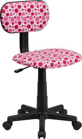 Pink Dot Printed Computer Chair [BT-D-PK-GG]