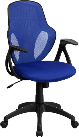 Mid-Back Executive Blue Mesh Chair with Nylon Base [H-8880F-BL-GG]