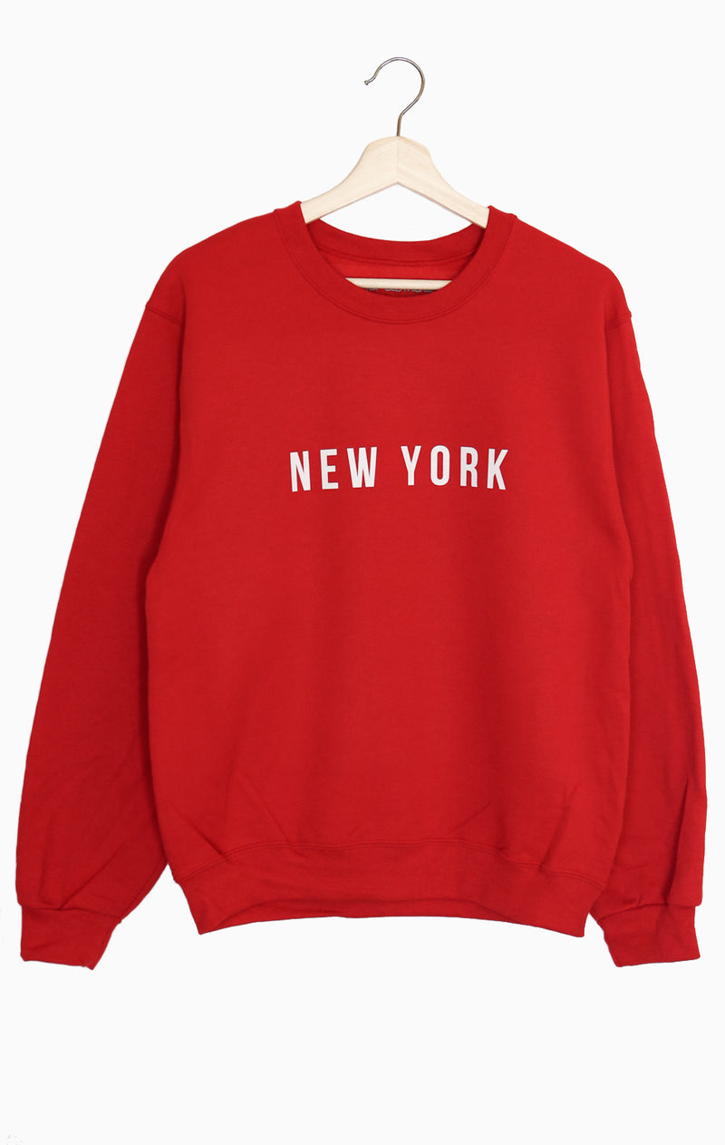 NYCT Clothing New York Oversized Sweatshirt - Red