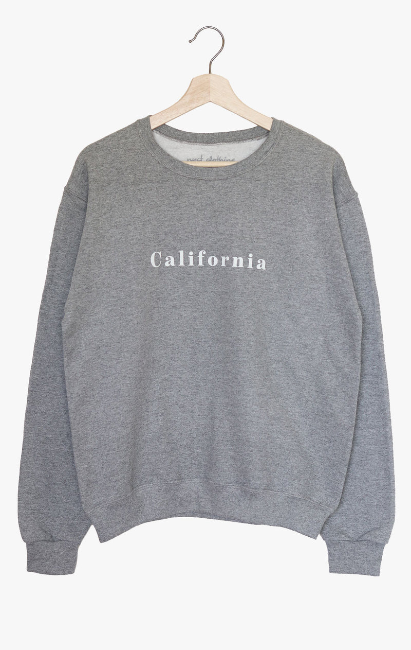 NYCT Clothing California Oversized Sweatshirt - Grey