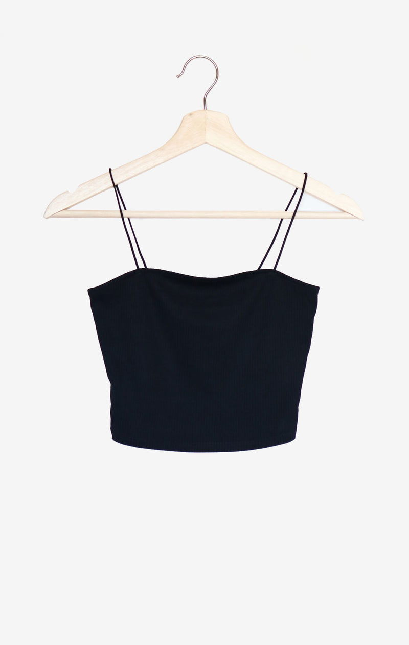 NYCT Clothing Cropped Cami - Black