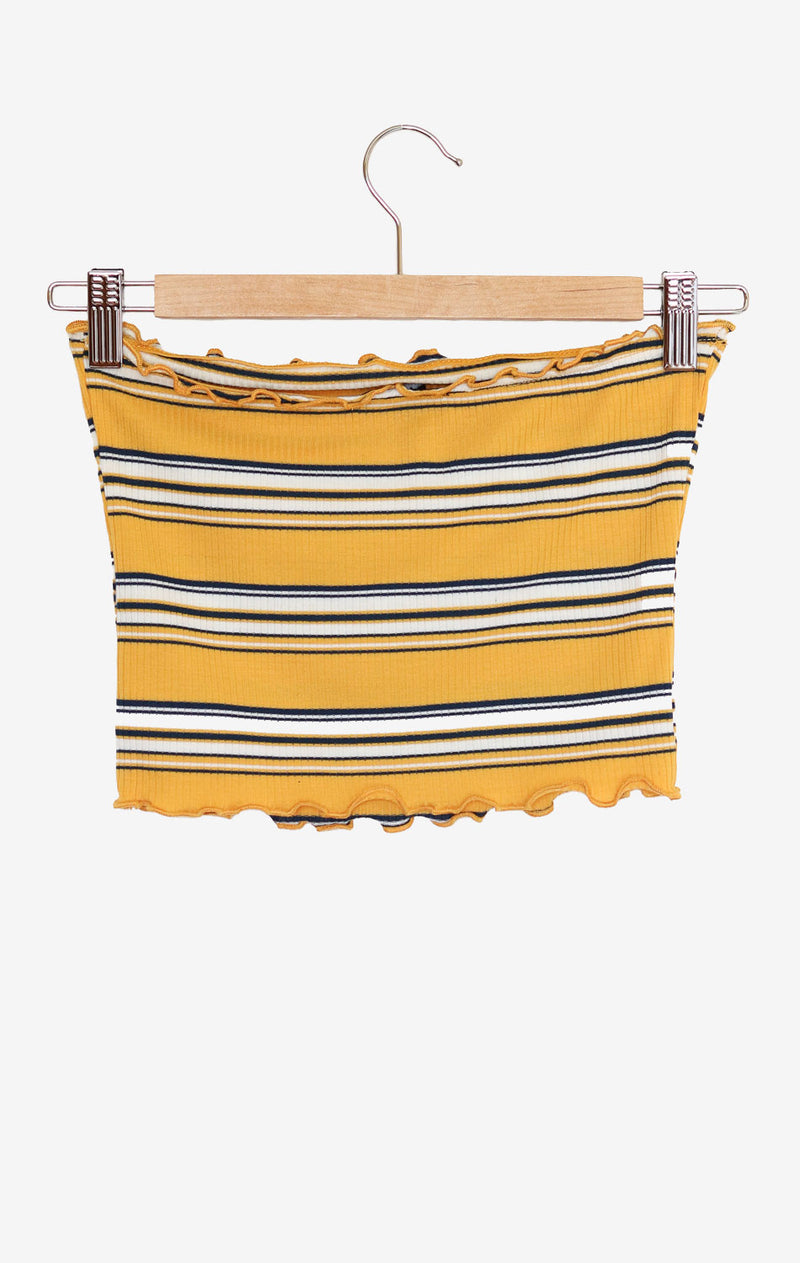 NYCT Clothing Striped Tube Top - Yellow