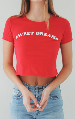 NYCT Clothing Sweet Dreams Cropped Tee