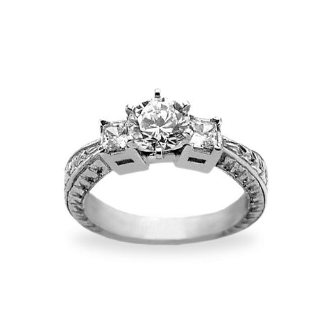3 Stone Diamond Engagement Rings