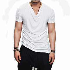 Unique Outfit for Men2018 Men Short Sleeve T Shirt Asymmetrical