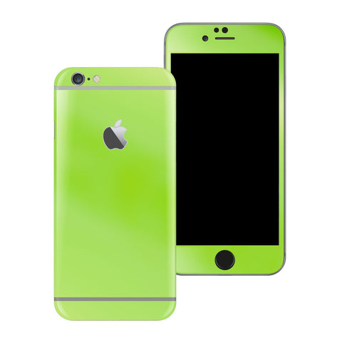 iPhone 6 Apple Green Pearl Gloss Finish Skin Wrap Sticker Cover Protector Decal by EasySkinz