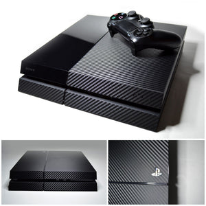 PS4 black carbon fiber skin