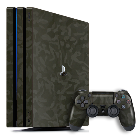 Playstation 4 PRO PS4 PRO Luxuria Green 3D Textured Camo Camouflage Skin Wrap Decal Protector | EasySkinz
