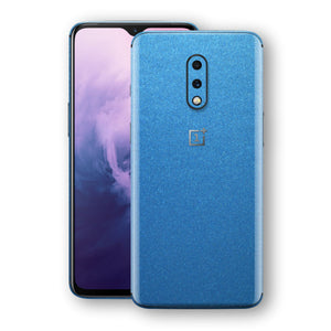 OnePlus 7 Azure Blue Matt Metallic Skin, Decal, Wrap, Protector, Cover by EasySkinz | EasySkinz.com