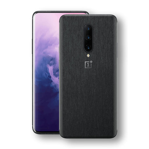 OnePlus 7 PRO Brushed Black Metallic Metal Skin, Decal, Wrap, Protector, Cover by EasySkinz | EasySkinz.com
