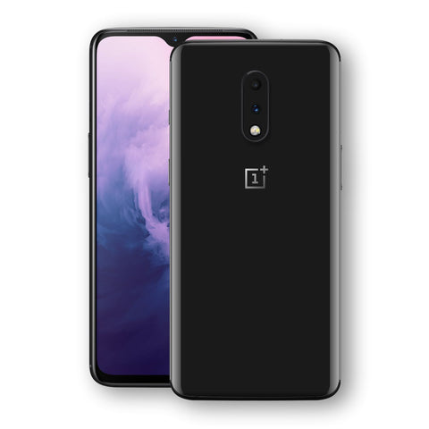 OnePlus 7 Black Matt Skin, Decal, Wrap, Protector, Cover by EasySkinz | EasySkinz.com