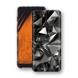 Google Pixel 3a Signature Black Crystals Skin Wrap Decal Cover by EasySkinz