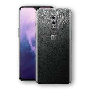 OnePlus 7 Luxuria BLACK Leather Skin Wrap Decal Protector | EasySkinz#