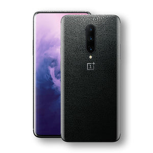 OnePlus 7 PRO Luxuria BLACK Leather Skin Wrap Decal Protector | EasySkinz#