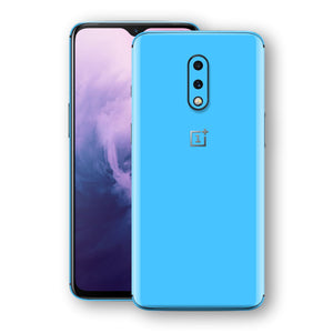 OnePlus 7 Blue Matt Skin, Decal, Wrap, Protector, Cover by EasySkinz | EasySkinz.com