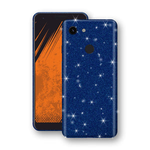 Google Pixel 3a Diamond Blue Shimmering, Sparkling, Glitter Skin, Decal, Wrap, Protector, Cover by EasySkinz | EasySkinz.com