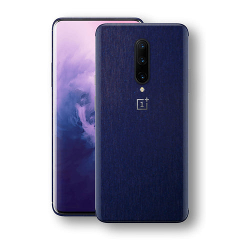 OnePlus 7 PRO Brushed Blue Metallic Metal Skin, Decal, Wrap, Protector, Cover by EasySkinz | EasySkinz.com