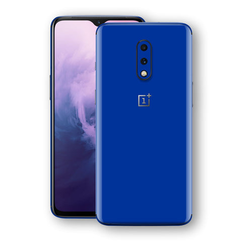 OnePlus 7 Royal Blue Glossy Gloss Finish Skin, Decal, Wrap, Protector, Cover by EasySkinz | EasySkinz.com