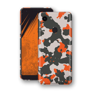 Google Pixel 3a Camouflage Orange Skin, Decal, Wrap, Protector, Cover by EasySkinz | EasySkinz.com