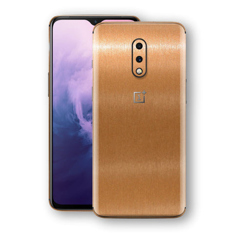 OnePlus 7 Brushed Copper Metallic Metal Skin, Decal, Wrap, Protector, Cover by EasySkinz | EasySkinz.com