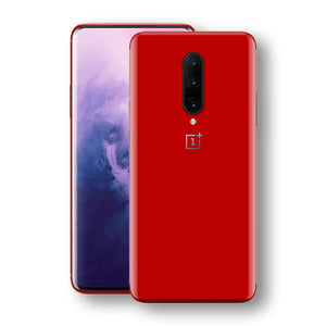 OnePlus 7 PRO Deep Red Glossy Gloss Finish Skin, Decal, Wrap, Protector, Cover by EasySkinz | EasySkinz.com