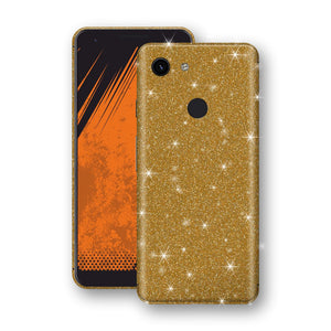 Google Pixel 3a Diamond Gold Shimmering, Sparkling, Glitter Skin, Decal, Wrap, Protector, Cover by EasySkinz | EasySkinz.com