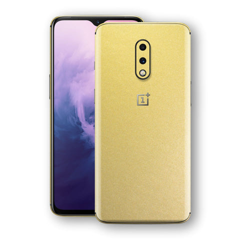 OnePlus 7 Gold Matt Metallic Skin, Decal, Wrap, Protector, Cover by EasySkinz | EasySkinz.com