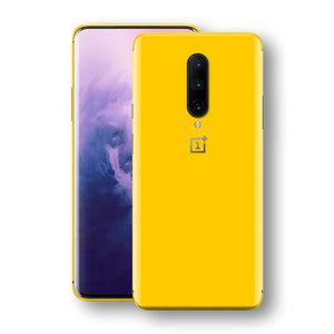 OnePlus 7 PRO Golden Yellow Glossy Gloss Finish Skin, Decal, Wrap, Protector, Cover by EasySkinz | EasySkinz.com