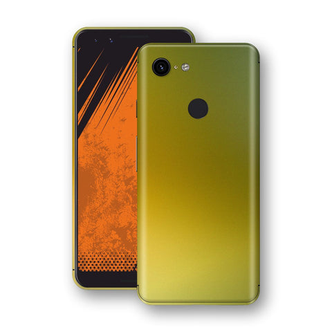Google Pixel 3a Chameleon NEPHRITE-GOLD Skin Wrap Decal Cover by EasySkinz